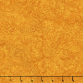 Golden State Batiks - Roses and Leaves Orange Yardage
