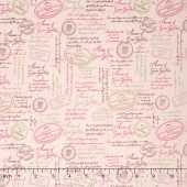 Anne of Green Gables - Anne Quotes Pink Yardage