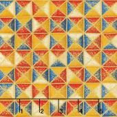 Treasures of Alexandria - Multi Triangles Multi Metallic Yardage