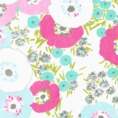 "Cuddle Prints - Blossom Hot Pink 60"" Minky Yardage"