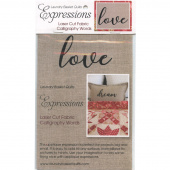 Expressions Laser Cut Fabric Words - Love