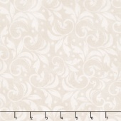 "Wilmington Essentials - Vintage Scroll Ivory 108"" Backing"