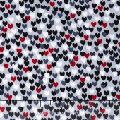 Scottie Love - Love Me Hearts Gray Yardage