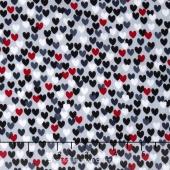 Scotty Love - Love Me Hearts Gray Yardage