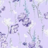 Violet Twilight - Twilight Pearl Garden Lilac Pearlized Yardage