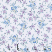 Twilight Garden - Small Calico Lilac Yardage