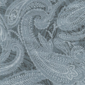 """108"""" Quilt Back - Paisley Grey 108"""" Wide Backing"""