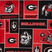 Fleece College - Georgia Bulldogs Red Yardage