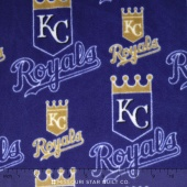 MLB - Kansas City Royals Royal Fleece Yardage