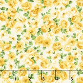 Victoria Gardens - Rosebuds Marigold Yardage