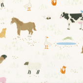 What do the Animals Say? - Animals Ivory Yardage