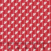 Sorbet - Tee Stripes Red Yardage