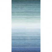 Swept Away - Ombre Blue Digitally Printed Yardage