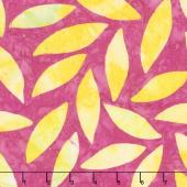 Kaffe Artisan Batik - Soprano Artisan Tumbling Leaf Magenta Yardage