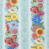 Blossom & Bloom - Repeating Stripe Multi Yardage