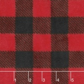 Winterfleece Prints Plaids and Checks - Buffalo Plaid B/Red Fleece Yardage