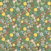 On the Farm - Farm Picked Flowers Grey Yardage