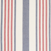 Picnic Point Tea Toweling - Stripe Red, White & Blue Yardage