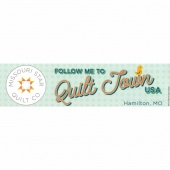 Follow Me to Quilt Town USA Bumper Sticker