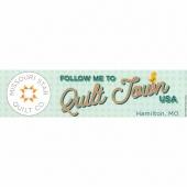 Follow Me to Quilt Town USA Bumper Sticker