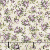 Meredith - Flower Clusters Ivory Yardage