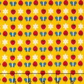 Gingham Girls - Gingham Butterfly Yellow Yardage