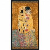 Gustav Klimt - Kiss Gold Metallic Panel