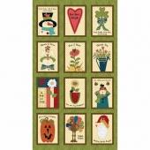 Doodle Days Calendar - Calendar Green Multi Panel