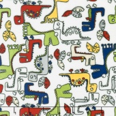 "Cuddle Prints - Roar! Scarlet 60"" Minky Yardage"
