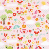 Bloom Where You're Planted - April Showers Pink Yardage