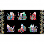 Cat-i-tude 2 - PurrFect Together Picture Black Multi Metallic Panel