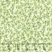 Victoria Gardens - Leaf Tendrills Green Yardage