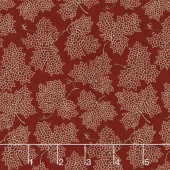 Sycamore - Falling Leaves Berry Red Yardage