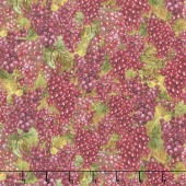 Tuscan Delight - Packed Grapes Red Yardage