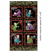 Cat-I-Tude Christmas - Holly Black Multi Metallic Panel