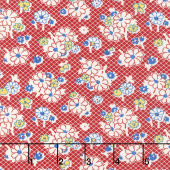 Sweet Harmony - Daisy Check Red Yardage