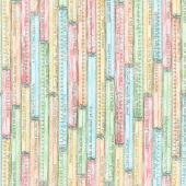 Measure Twice - Yardstick Sayings Multi Color Yardage