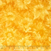 Flowers of the Sun - Sunflower Shapes Yellow/Gold Yardage