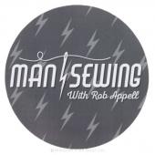 Man Sewing Magnet - Logo Gray