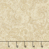 Butter Churn Basics - Small Paisley Beige Yardage