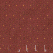 Berries and Blossoms - Diamond Geo Dark Red Yardage