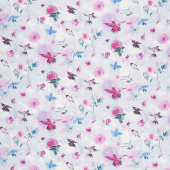 Bloom Bloom Butterfly - Hummingbird Flight Sky Yardage