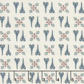 Home Sewn - Scissors Cream Yardage