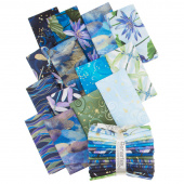 Dragonfly Dance Blue Metallic Fat Quarter Bundle