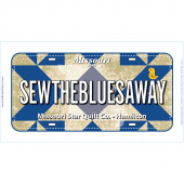 Quilters Trek Official License Plate 2020 - SEWTHEBLUESAWAY