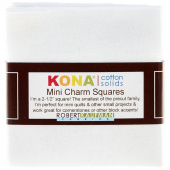 Kona Cotton White Mini Charm Pack