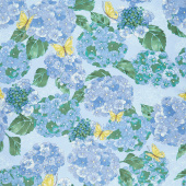 Cottage Bleu - Hydrangeas Mist Yardage