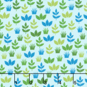Safari Soiree - Leaves Aqua Yardage