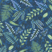 Feather & Flora - Fern Midnight Yardage