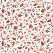 Prose - Medium Floral Ultra White Yardage